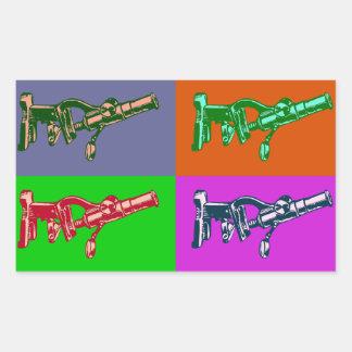Microscope Pop Art Rectangular Stickers