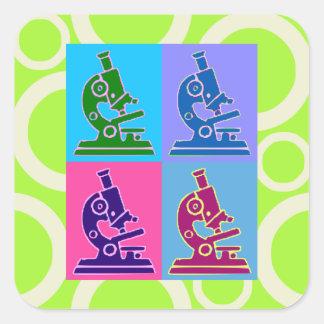 Microscope Pop Art Sticker