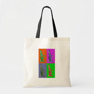 Microscope Pop Art Tote Bag