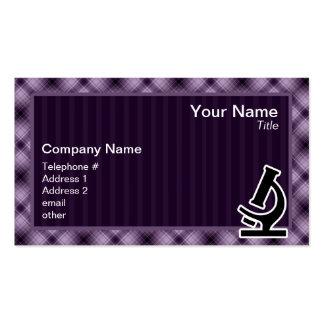 Microscope; Purple Business Cards