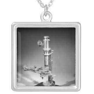 Microscope Silver Plated Necklace
