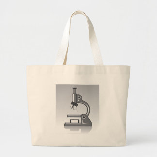 Microscope vector large tote bag