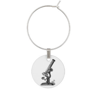 Microscope Vintage Science Wine Charm