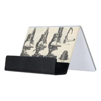 Microscopes Desk Business Card Holder