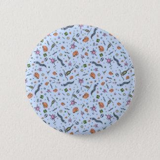 Microscopic Animals in Purple Pinback Button