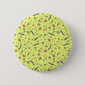 Microscopic Animals in Yellow Pinback Button