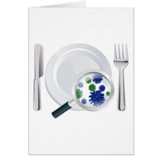 Microscopic bacteria cutlery concept card