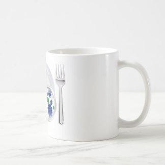 Microscopic bacteria cutlery concept coffee mug