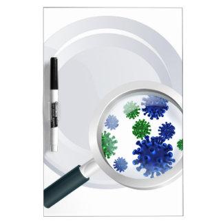 Microscopic bacteria cutlery concept Dry-Erase board