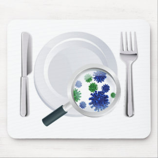 Microscopic bacteria cutlery concept mouse pad