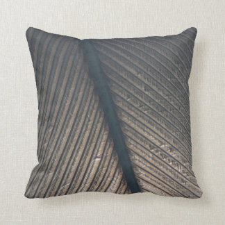 Microscopic Black Feather Texture Pillow