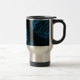 Microscopic Code of Life DNA Double Helix Travel Mug