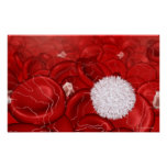 Microscopic look at blood cells poster
