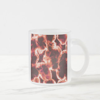 Microscopic Red Cells Frosted Glass Coffee Mug