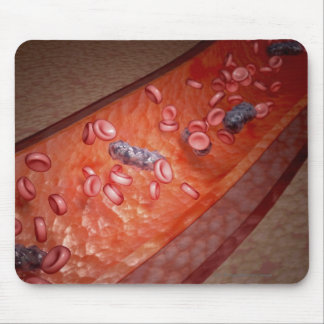 Microscopic rendering of a blood infection mouse pad