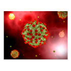 Microscopic View Of HIV Virus 2 Postcard