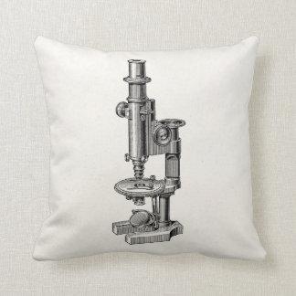 Microscopio antiguo viejo de la ciencia de los cojín