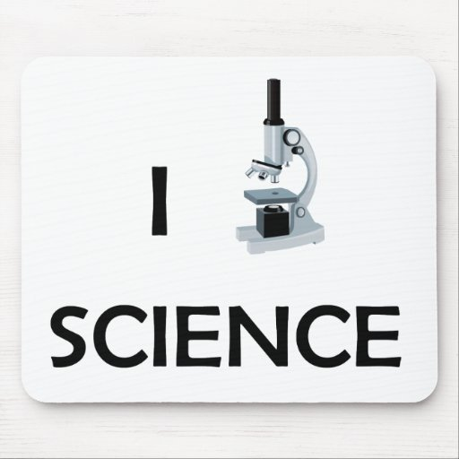 Microscopio de la ciencia del amor tapetes de raton