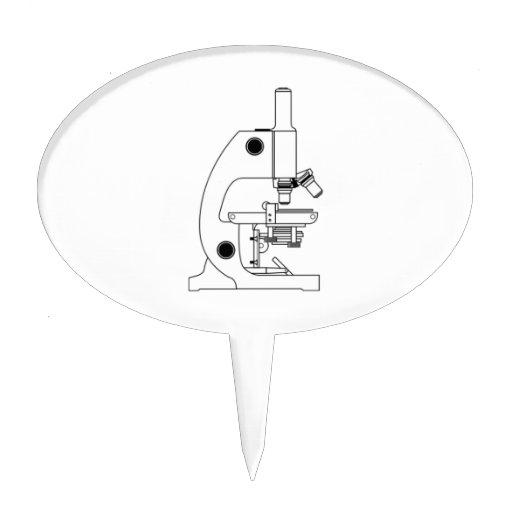 Microscopio de la ciencia figura para tarta