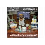 Microscopio olvidado perro de las conversiones del postal