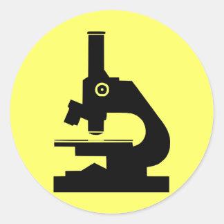 Microscopio Pegatina Redonda
