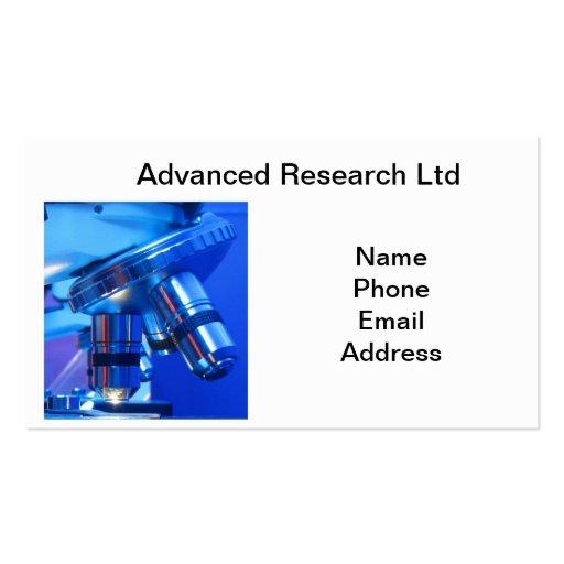 Microscopio potente para la investigación y la tarjetas de visita