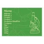 Microscopio - rechoncho plantilla de tarjeta personal