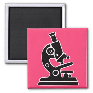 Microscopio rosado imán para frigorífico