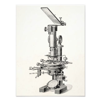 Microscopios retros del ejemplo del microscopio de fotografías