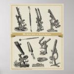 Microscopios y instrumentos impresiones