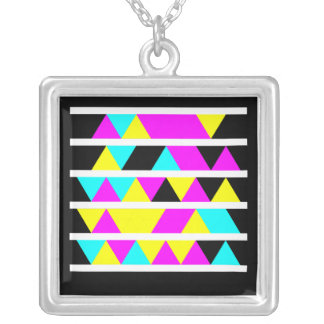 Microsoft Tag Sterling Square Pendant Necklace
