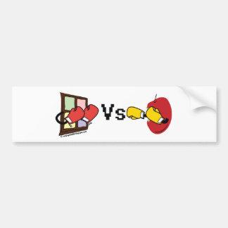 Microsoft Windows Vs Apple Mac boxing fight Bumper Sticker
