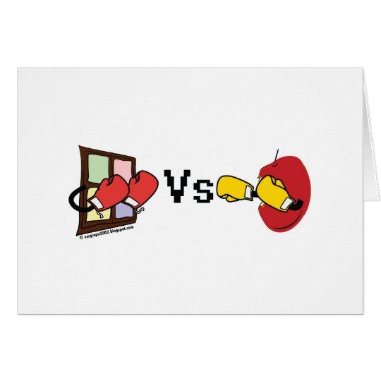Microsoft Windows Vs Apple Mac boxing fight Card