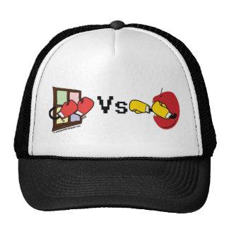 Microsoft Windows Vs Apple Mac boxing fight Hats