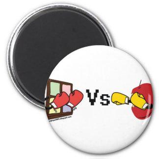 Microsoft Windows Vs Apple Mac boxing fight Fridge Magnet