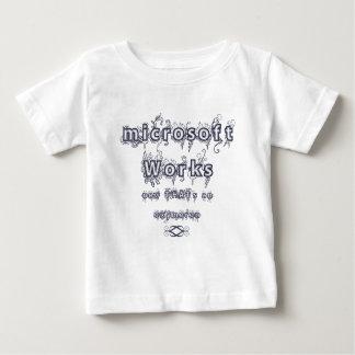 microsoft works: Oxymoron Baby T-Shirt