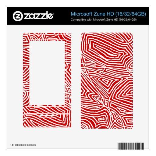 Microsoft Zune  Skin - Scribbleprints Red Zune HD Skin