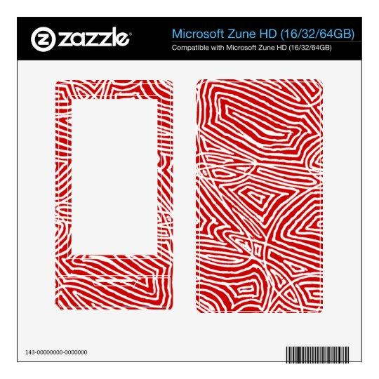 Microsoft Zune  Skin - Scribbleprints Red