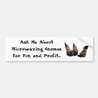 Microwave Gnomes Bumper Sticker