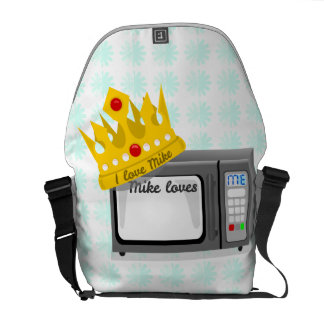Microwave is King of the Kitchen Crown Courier Bag