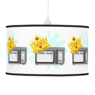 Microwave is King of the Kitchen Crown Hanging Lamp