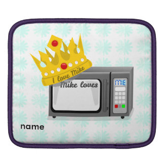 Microwave is King of the Kitchen Crown Sleeve For iPads