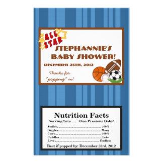 Microwave Popcorn Wrapper All-Star Blue Flyer