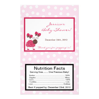 Microwave Popcorn Wrapper Berry Garden Lady Bug Flyers