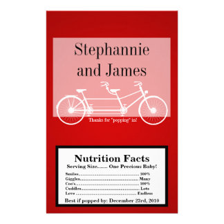 Microwave Popcorn Wrapper Crimson Red Double Bike Flyer