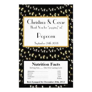 Microwave Popcorn Wrapper Glowing Summer Lights on Flyer