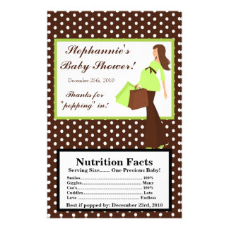 "Microwave Popcorn Wrapper Green Mod Mom Polka Dots 5.5"" X 8.5"" Flyer"