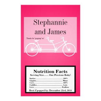Microwave Popcorn Wrapper Hot Pink Double Bike Flyer