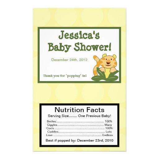 Microwave Popcorn Wrapper Jungle Babies Flyer | Zazzle