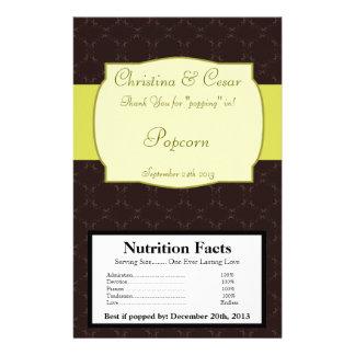 Microwave Popcorn Wrapper Light/Olive Green Chande